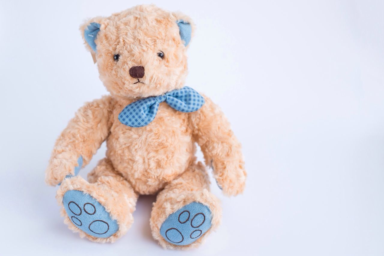 teddy bear, stuffed toy, toy, cut out, white background, childhood, physical impairment, no people, healthcare and medicine, close-up, medical exam, doll, studio shot, day