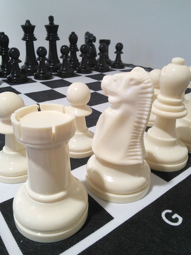 Large chess board! What's your game? In A Row Still Life Large Group Of Objects Group Of Objects Collection Contrasts No People Large Chess Board Chess Pieces Chess Game Close-up Chess Set Board Games