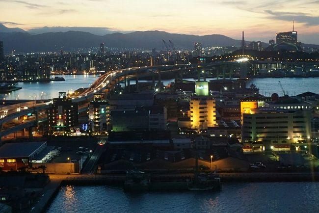 Fukuoka Fukuoka,Japan Sunset Highway Highways&Freeways Fukuoka Tower Sky Sky And Clouds Mountains Beautifulcity