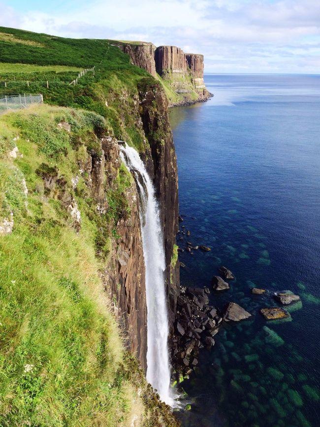 Kiltrock Scottland Skye Colours Higland Caledonian Beauty In Nature Stone Cliff Edge Seascape Sea View Seafront