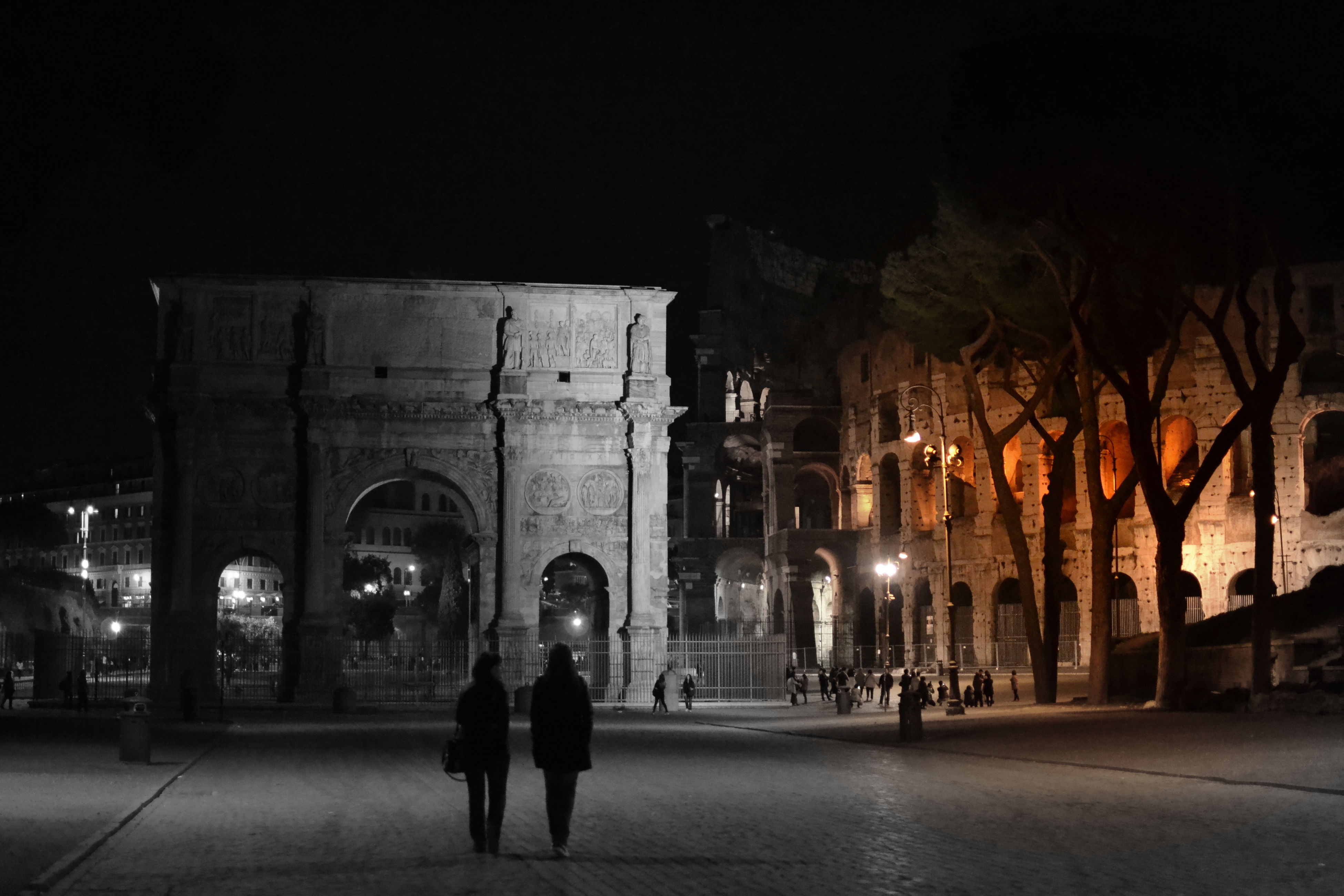illuminated, night, architecture, built structure, building exterior, standing, men, lifestyles, full length, person, outdoors, place of worship