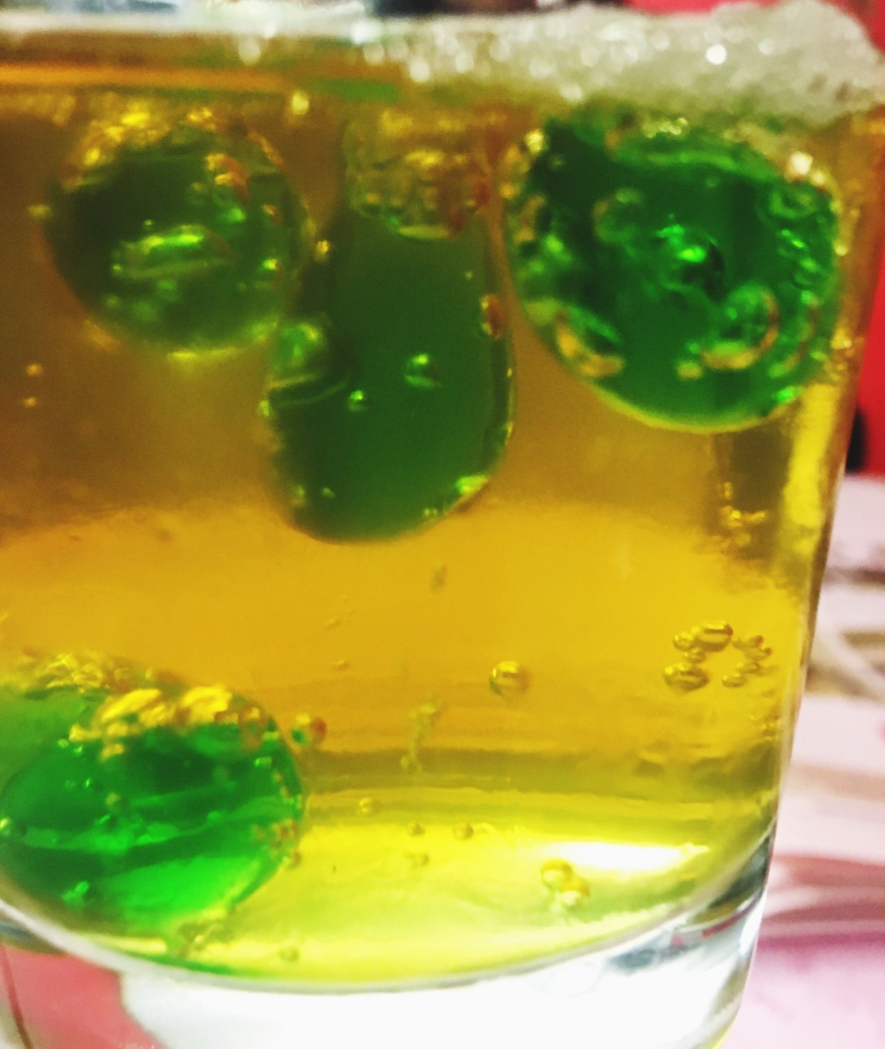 Green bubble Drinking Glass