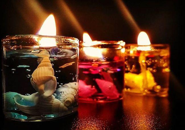 Festive lights Scentedcandles Lowlight Yellowflicker Seashells Diwalipost2