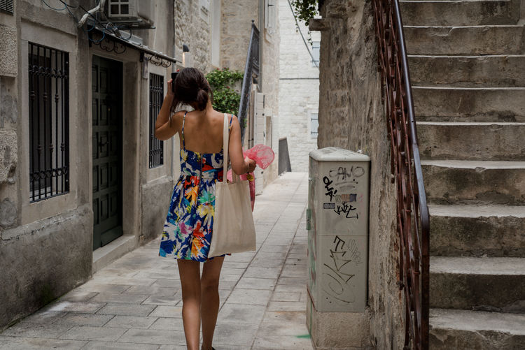 Croatia Dress Nikon Travel Woman Architecture Beautiful Woman Building Exterior Built Structure Europe One Woman Only Roadtrip Streetphotography Style Summer Travel Destinations Young Adult