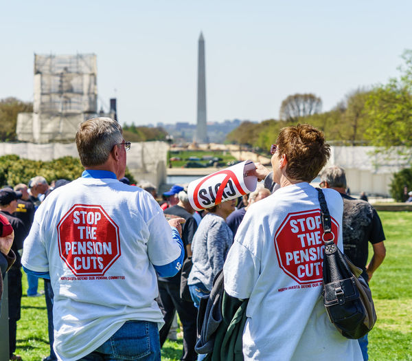 Activism America April Capital Cities  Capitol Hill Congress Democracy Democracy Spring Demonstration Disobedience District Of Columbia Fighting Monument Political Protest Showcase April Spring Stop The Pension Cuts USA Washington Washington, D. C. Two Is Better Than One