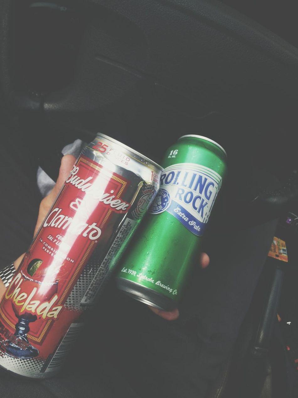Rolling Rock Budweiser Chelada