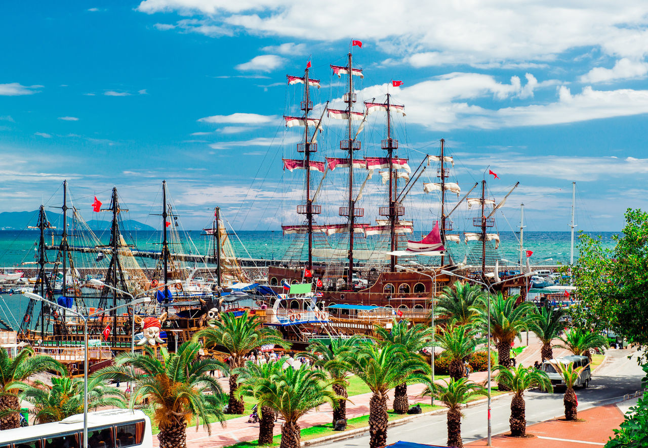 View of Alanya Cruise Port, Turkey Alanya ASIA Boats City Harbor Landscape Middle East Moored Mooring Nature Nautical Nautical Vessel Outdoors Port Quay Seaside Seasonal Ship Tourism Tourist Attraction  Tourist Resort Travel Destinations Turkey Turkish Riviera Vessel