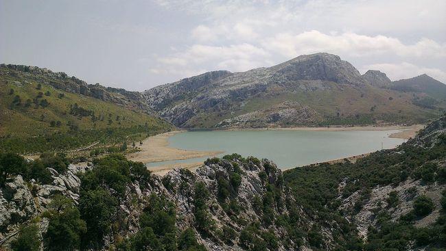 Mountain Tranquil Scene Lake Water Idyllic Mallorca Reservoir Embalse De Cuber Stausee Lake View Landscape Mountain View Mountain Range