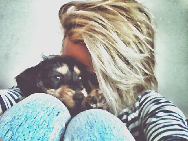 WeAreSoHappy Littlegirl Puppy Love Bollie Thebestintheworld Friendship DogLove Whiteandblue Jeanpaulgaultier Loveforever