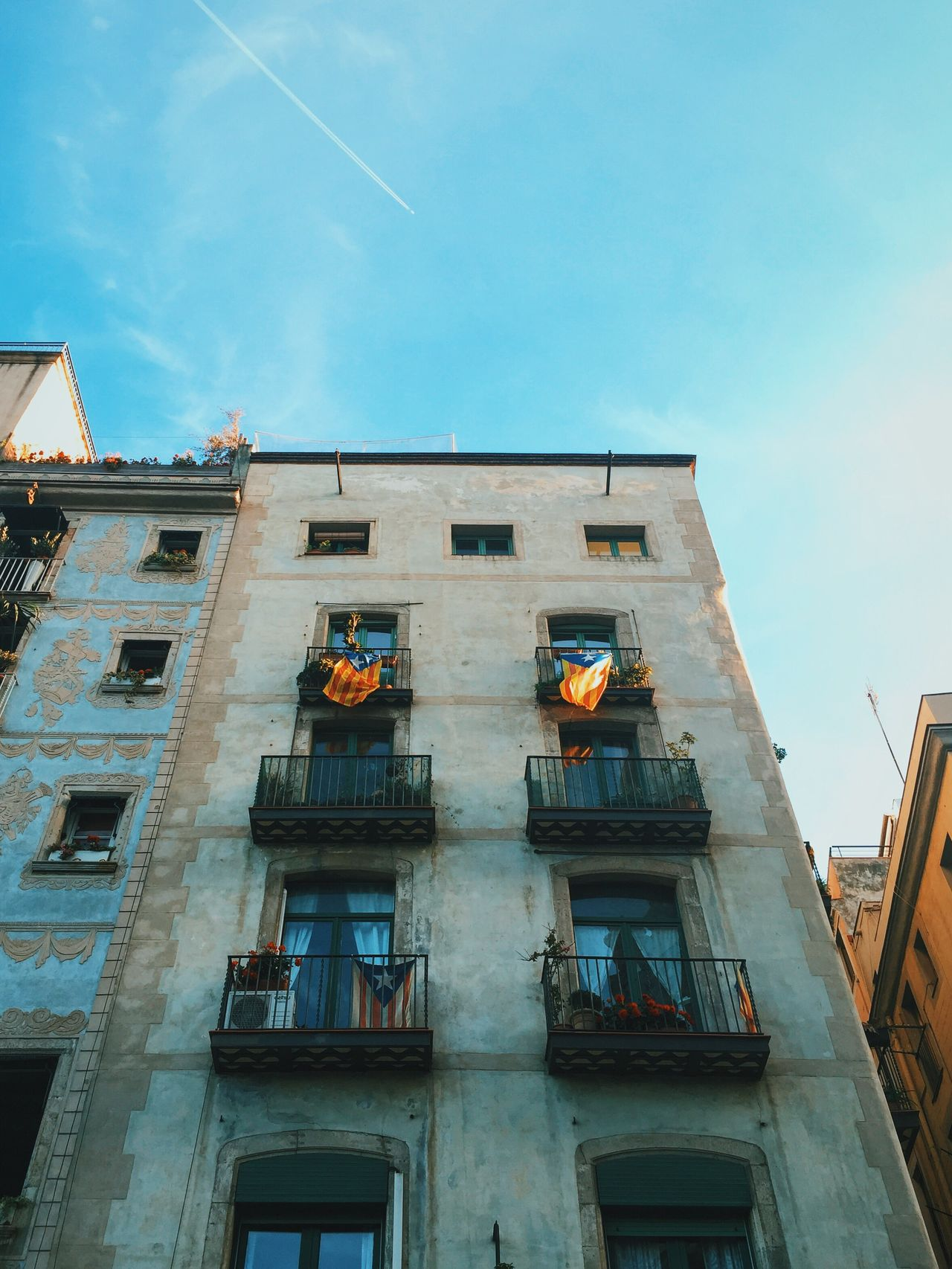 Rebels with balconies. Architecture Flags In The Wind  Catalunya Revolution Independence Balcony Traveling VSCO Wanderlust Vscocam