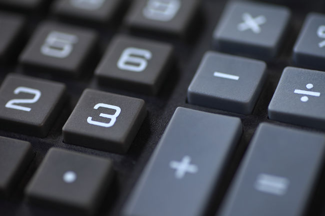 Closeup of number and symbol keys Accounting Adding Backgrounds Buttons Calculator Close-up Dividing Geometric Shape Indoors  Keys Mathematics Minus Multiplying Nobody Number 2 Number 3 Number 6  Numbers Plus Statistics  Subtracting Symbols Textures