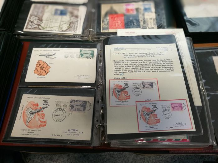 Gronchi Rosa Collection Stamps Collections Francobolli Filateria