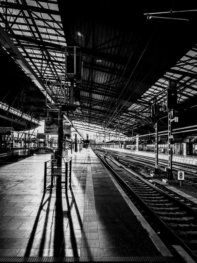 Feel The Journey Taking Photos Deutschland Erfurt Train Station Blackandwhite Black And White Black & White Blackandwhite Photography Light And Shadow Monochrome Good Morning Architecture EyeEm Best Shots