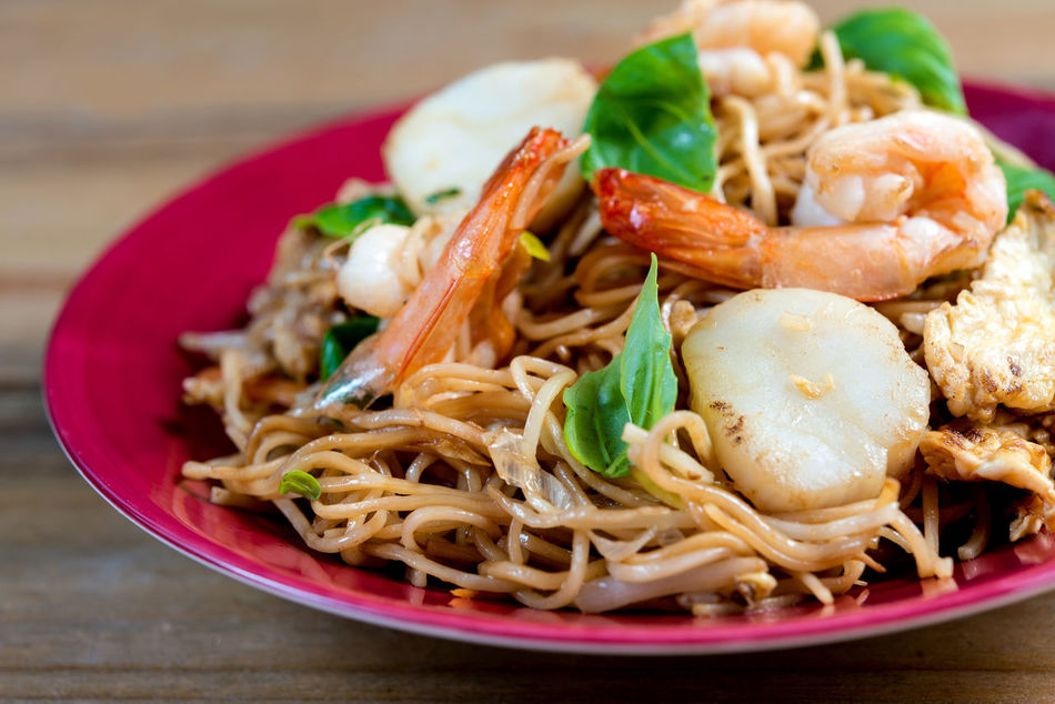 Asian Food Close-up Cooked Food Food And Drink Food State Freshness Fried Noodle Gourmet Healthy Eating Indoors  Meal No People Noodle Plate Ready-to-eat Savory Food Serving Dish