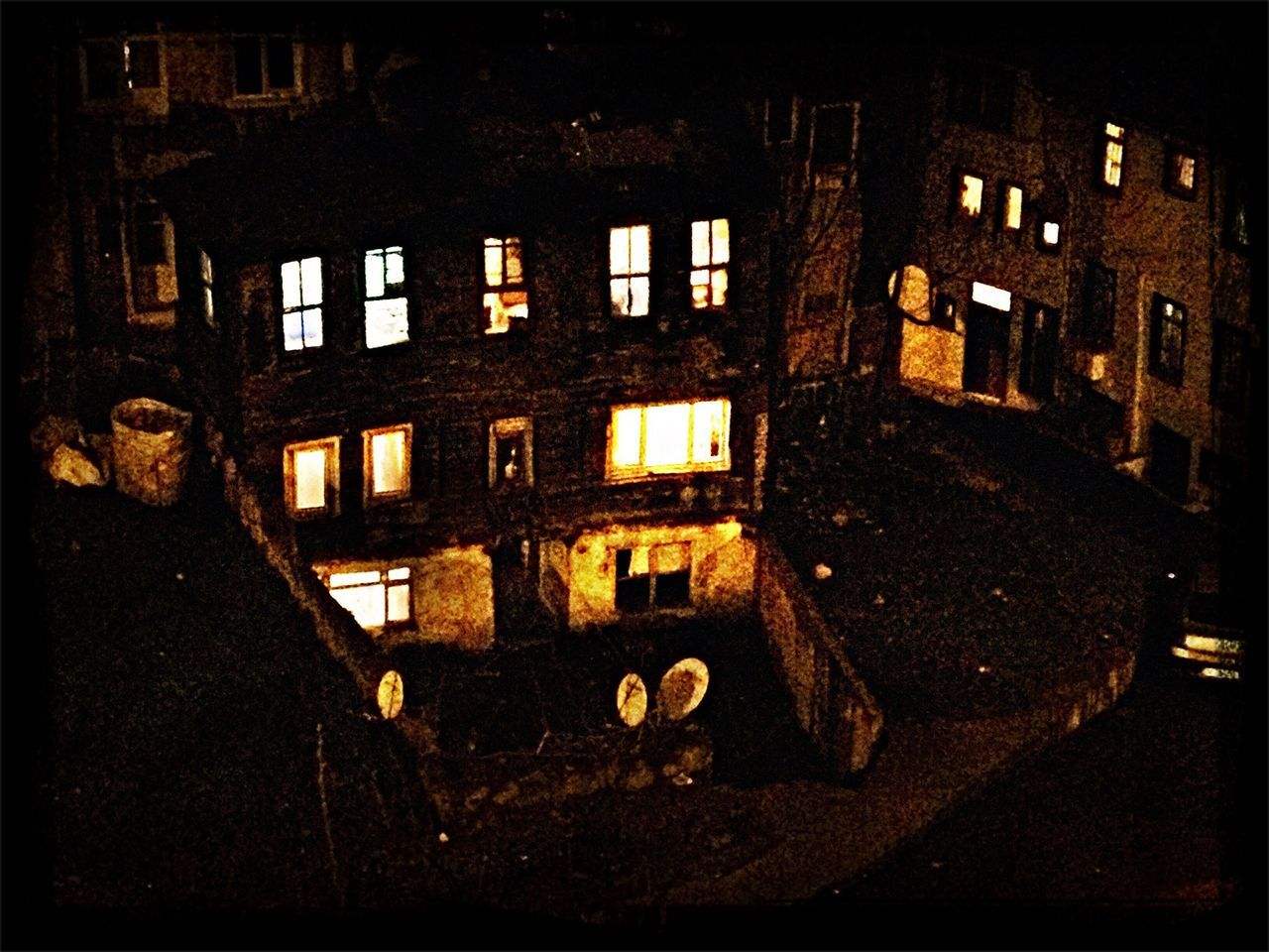 architecture, built structure, window, building exterior, night, no people, illuminated, outdoors, city