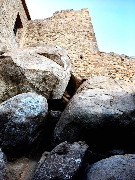 Powerful base Architecture Built Structure Rock - Object History Building Exterior Ancient Stone Material No People Day Travel Destinations Outdoors Ancient Civilization Low Angle View Nature Clear Sky Sky