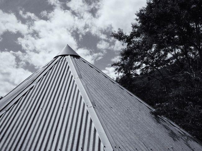 Tin Roof Blackandwhite Minimalism Geometric Shapes IPhoneography IPhone VSCO Vscocam Vscogood
