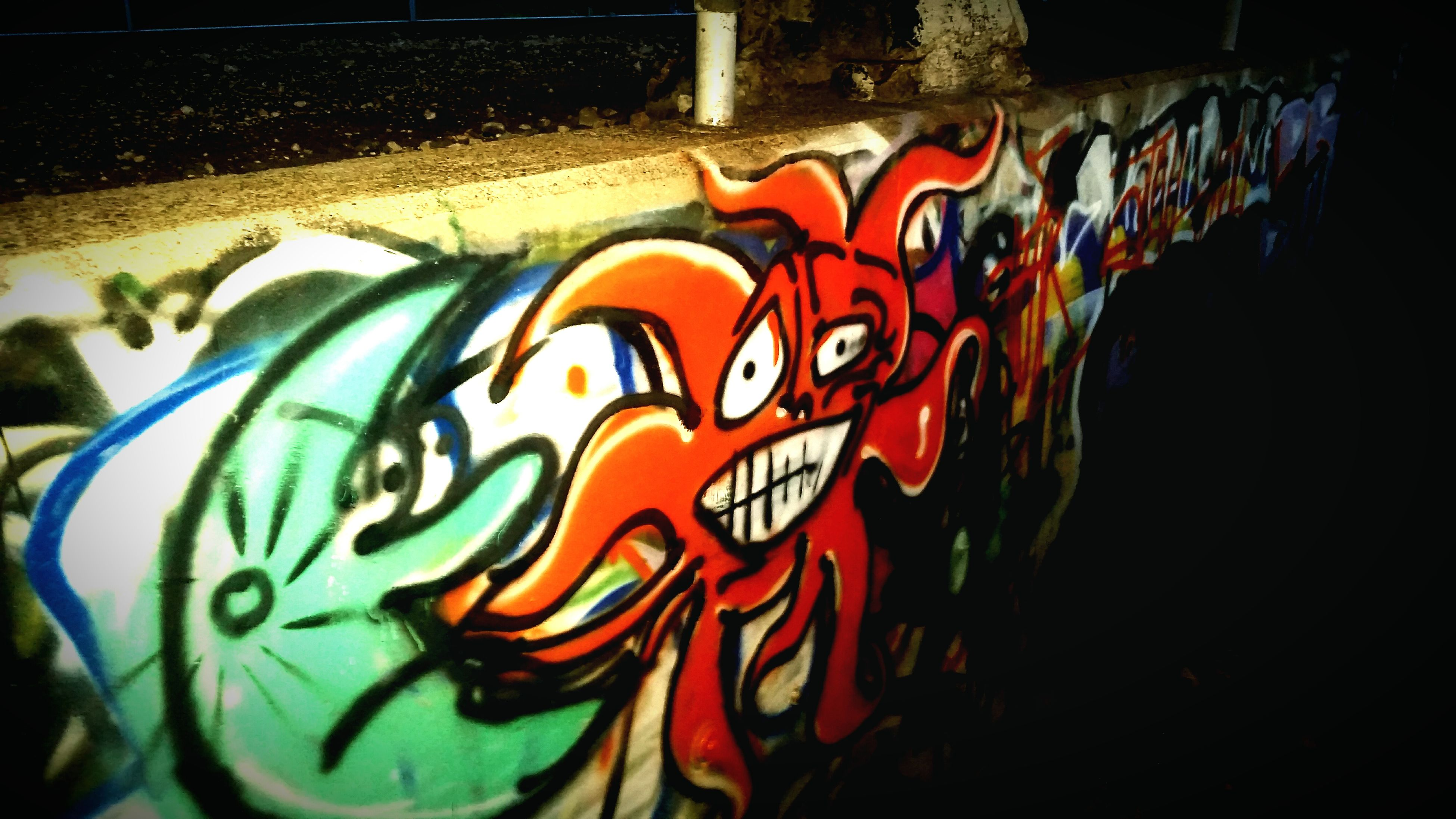 art, art and craft, creativity, multi colored, graffiti, design, wall - building feature, close-up, animal representation, no people, human representation, pattern, indoors, craft, colorful, built structure, decoration, day, orange color