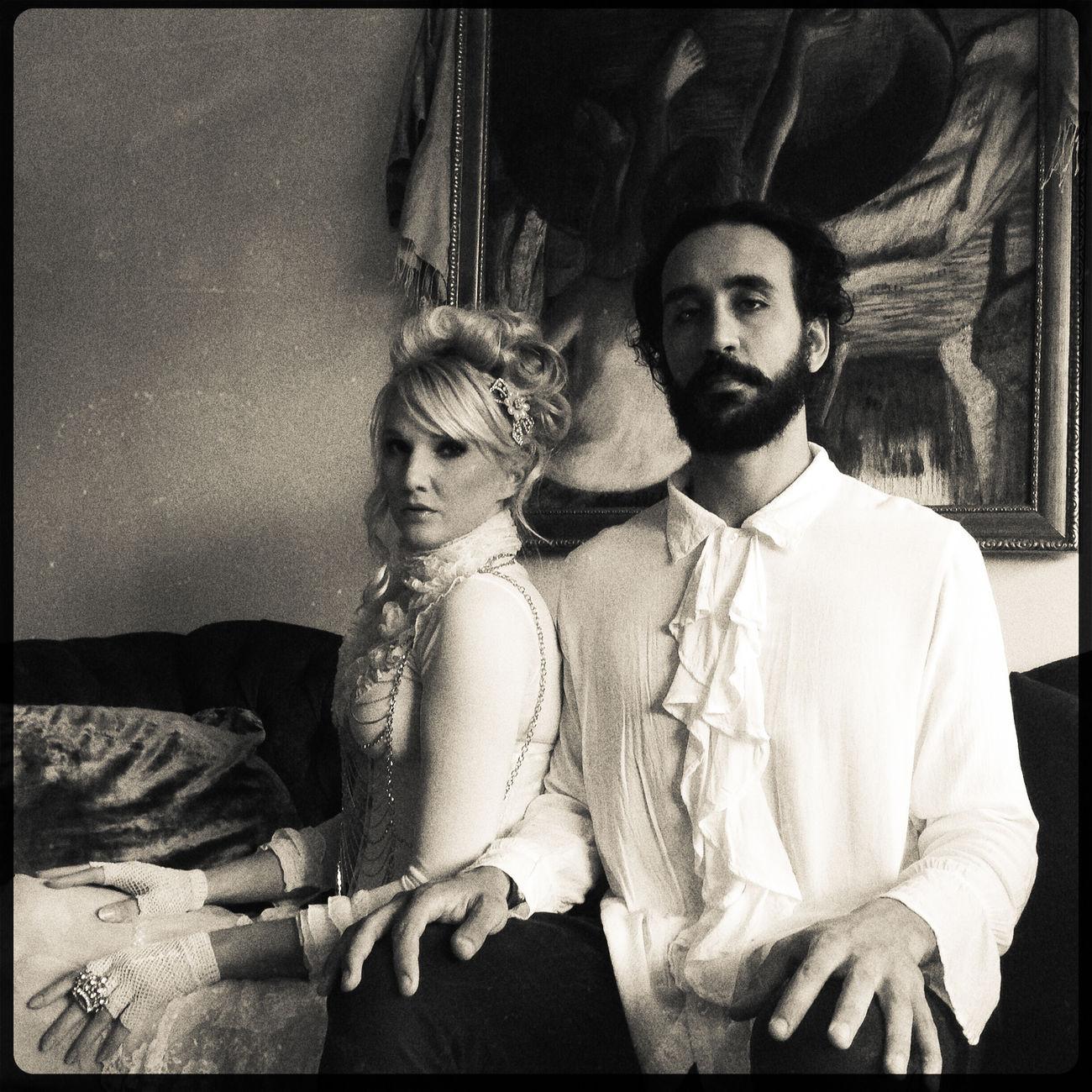 Gothic B&W Portrait Black & White Blackandwhite Couple Fashion Photography IndoorPhotography Indoors  Oddbeauty Portrait Sitting Sofa The Portraitist - 20I6 EyeEm Awards