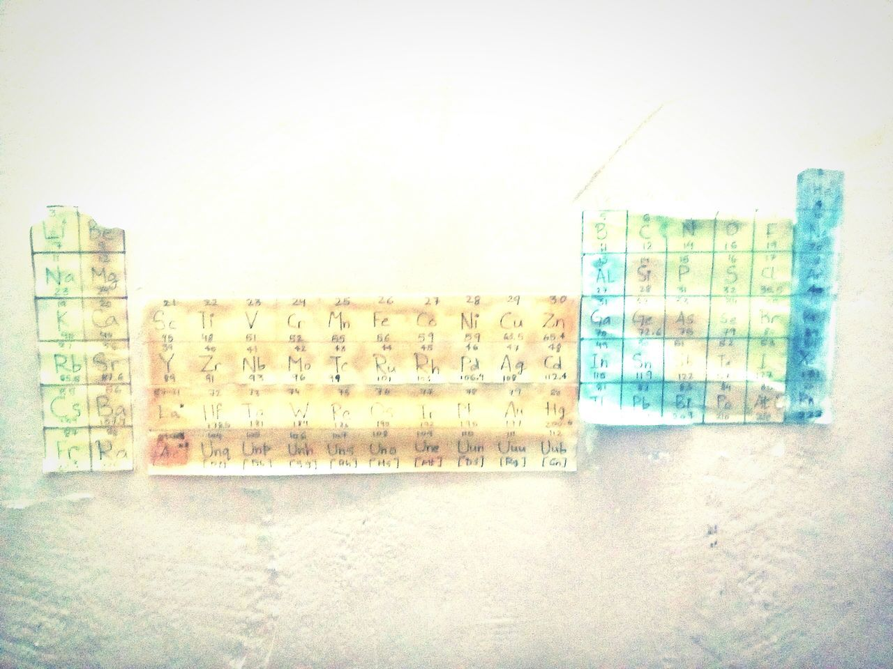 A table on the wall Third World Country Periodic Table Wall Broken Wall Periodic Chart