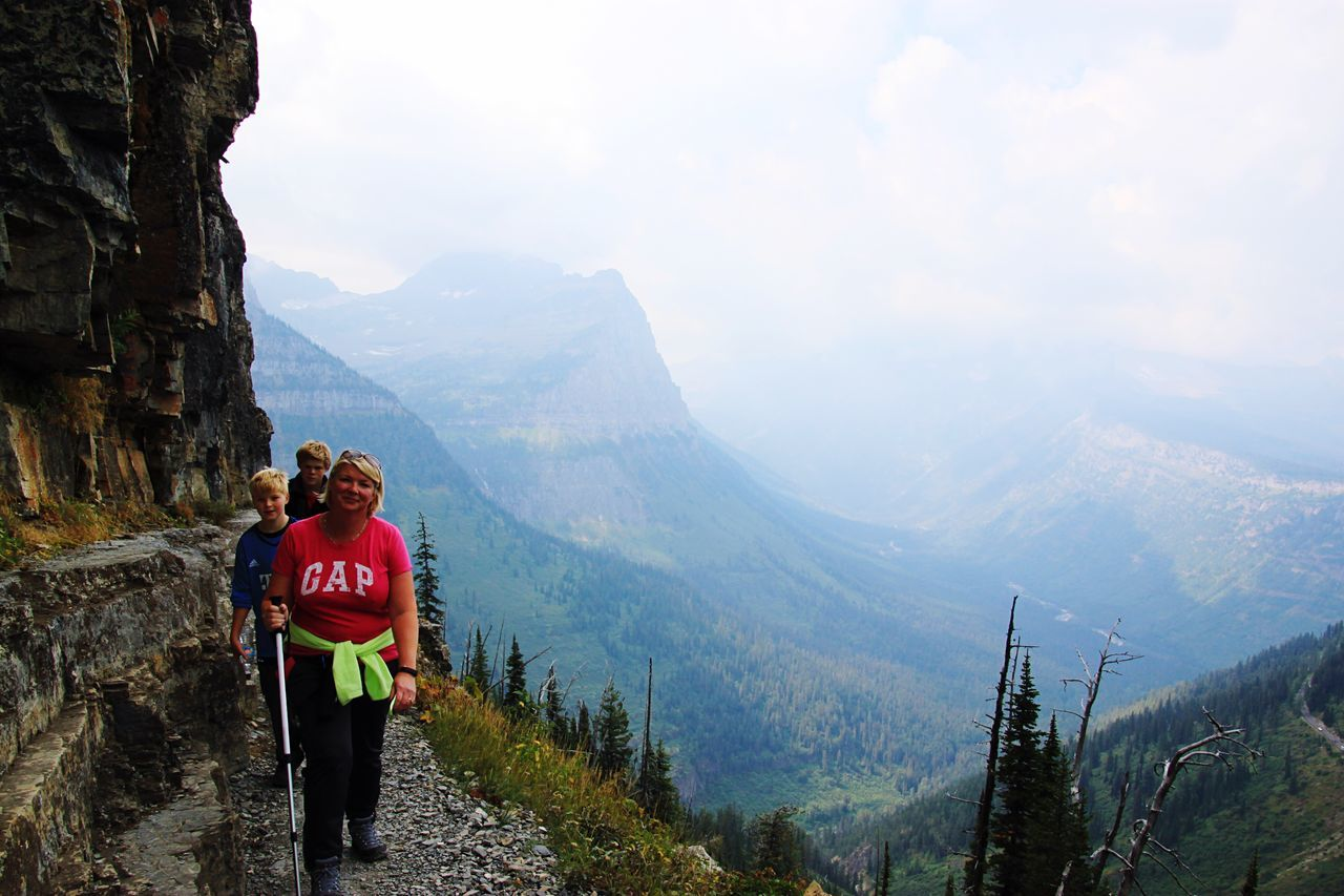 The Great Outdoors - 2016 EyeEm Awards Highline Trail Glaciernationalpark Hiking Adventure Family Original Experiences