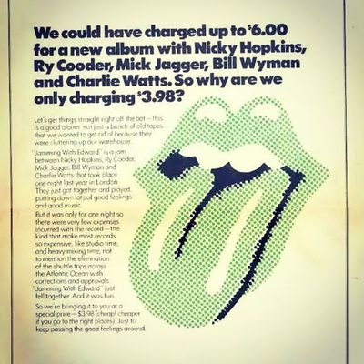 Blimey ! Jammingwithedward Nickyhopkins Rycooder Billwyman Charliewatts Mickjagger Rollingstones