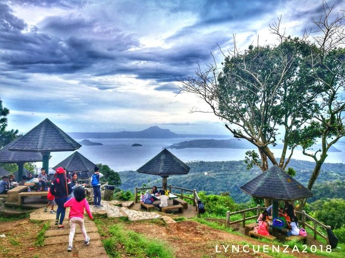 One Gloomy Day at Tagaytay Cloud - Sky Sky Outdoors Beach Day Lifestyles Real People Nature People Architecture Men Women Water Adult Adults Only