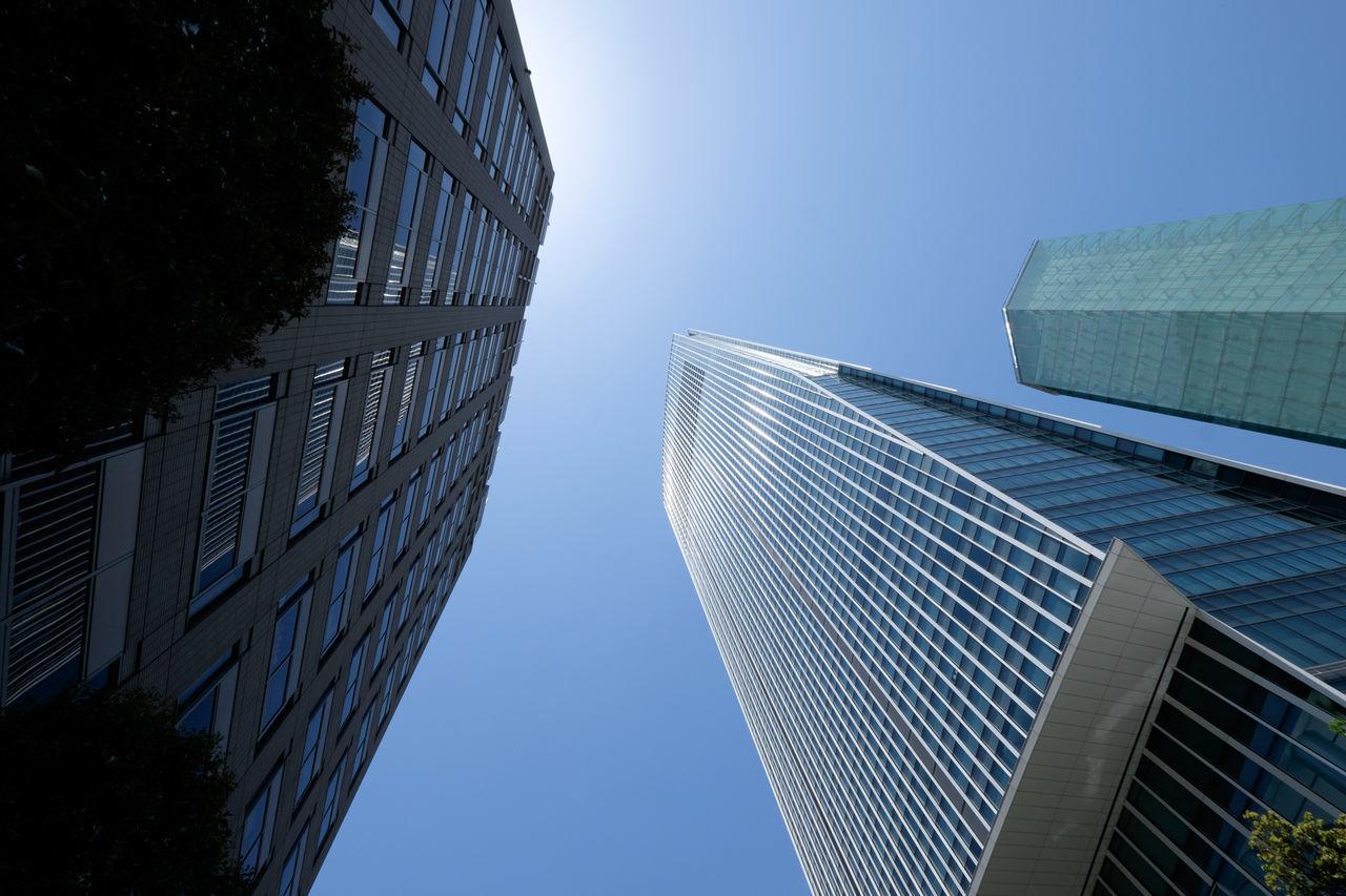 虎の門 Architecture Blue Building Exterior Built Structure City Fujifilm Fujifilm X-E2 Fujifilm_xseries Japan Low Angle View Office Building Sky Tall Tokyo Toranomon Xf10-24mm 日本 東京 港区 虎ノ門