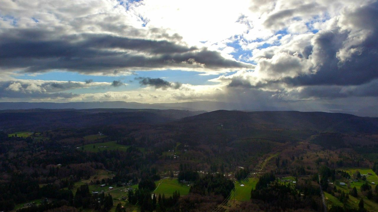Flying High Nature Cloud - Sky Landscape Scenics Outdoors Beauty In Nature No People Day Dramatic Sky Darryn Doyle Check This Out Dronephotography Eye4photography  Drone Shot Drone Dji Dronepointofview Looking To The Other Side Extraordinary  Backgrounds Sunbeam Sky