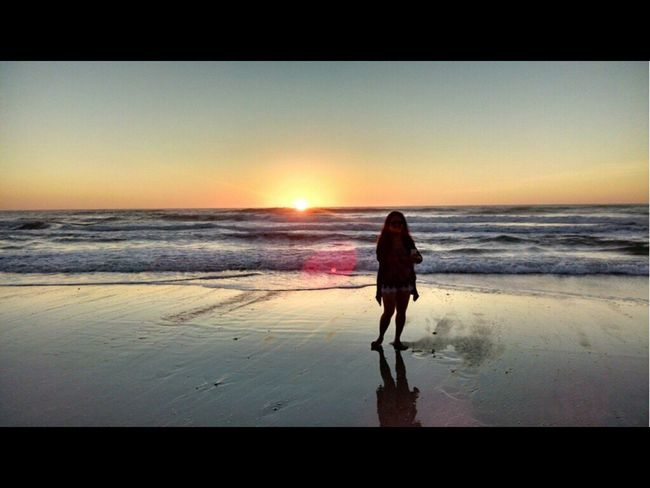 Early morning stroll on the beach.... Beach Photography Beachlife EyeEm Nature Lover EyeEm Best Shots Sunrise_Collection Sunrise Silhouette Sunset #sun #clouds #skylovers #sky #nature #beautifulinnature #naturalbeauty #photography #landscape