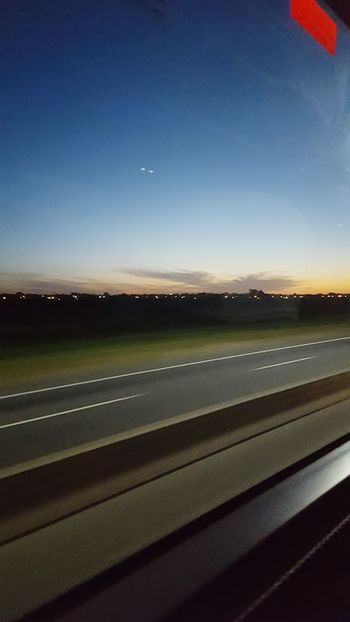 Road Beauty In Nature Nature Sunset Outdoors Night Landscape Sky Scenics No People Star - Space No Filter