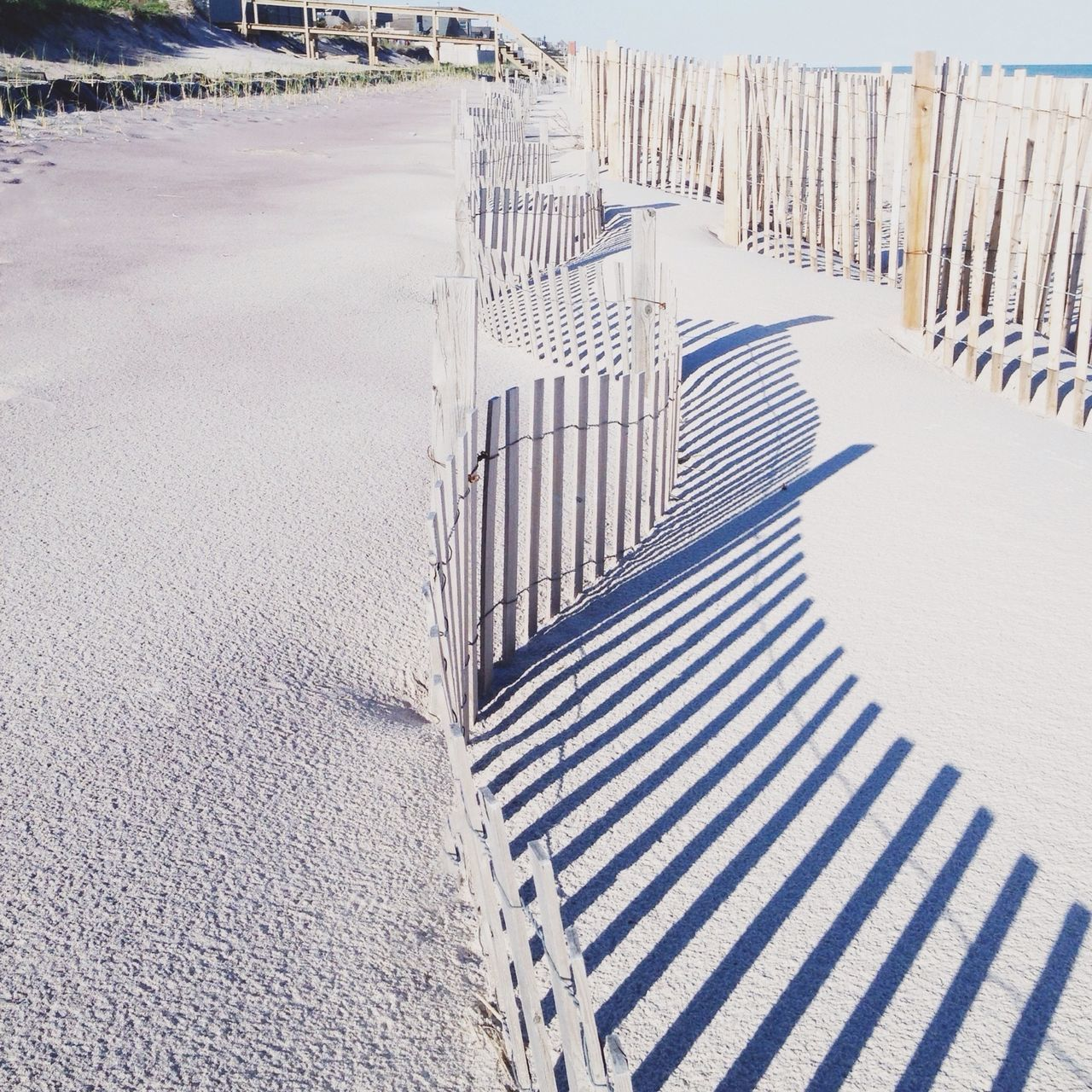 Beautiful stock photos of sand, Beach, Day, Fence, Landscape