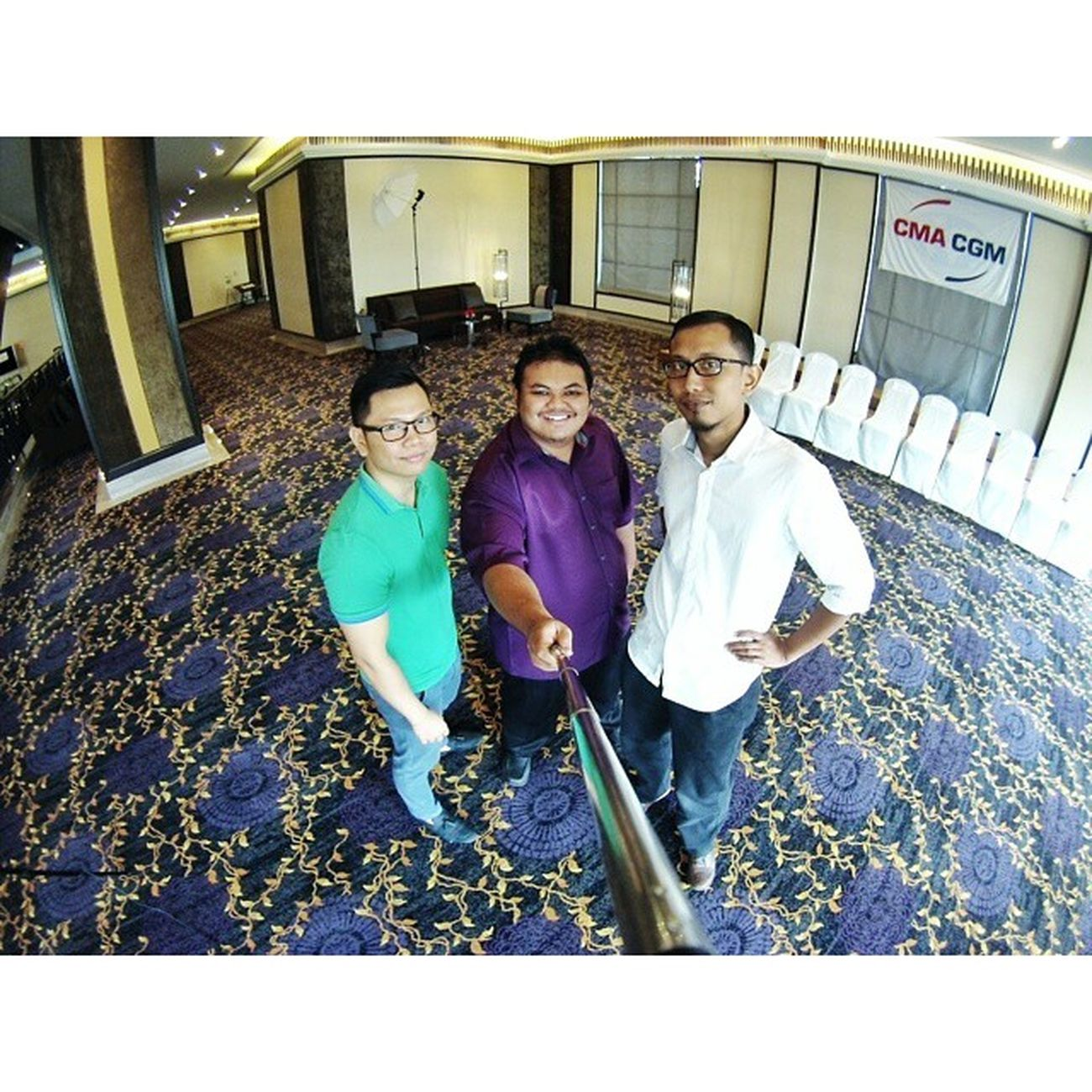 Selfie together2 lah at Themajestichotel Kualalumpur for CMACGM Groupphoto @faixs @chairongjay