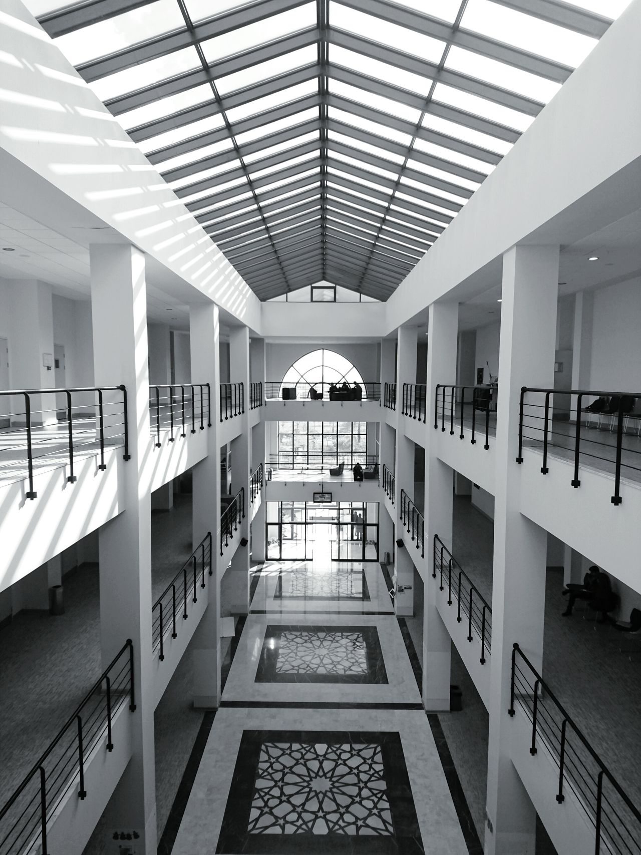 Indoors  No People Day Architecturelovers Walls Buildingstyles Department Point Of View Perspective Symmetry Tube Landscape Skyview Windows University Architectural Detail Architectural Column Architecture_collection Architecture Sunshine Blackandwhite Black And White Black & White Black And White Photography Newtalent EyeEmNewHere