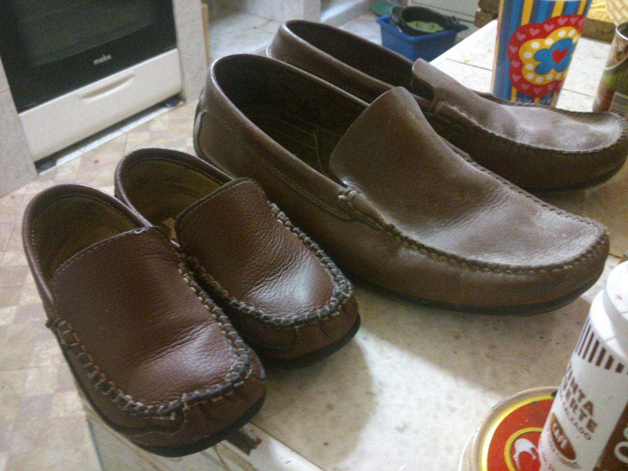 Fashion Father And Son Father And Son´s Memory Leather Like My Dad Mi Habib Mi Hijo  Mi Niño My Son My Son ❤ Pair Shoe