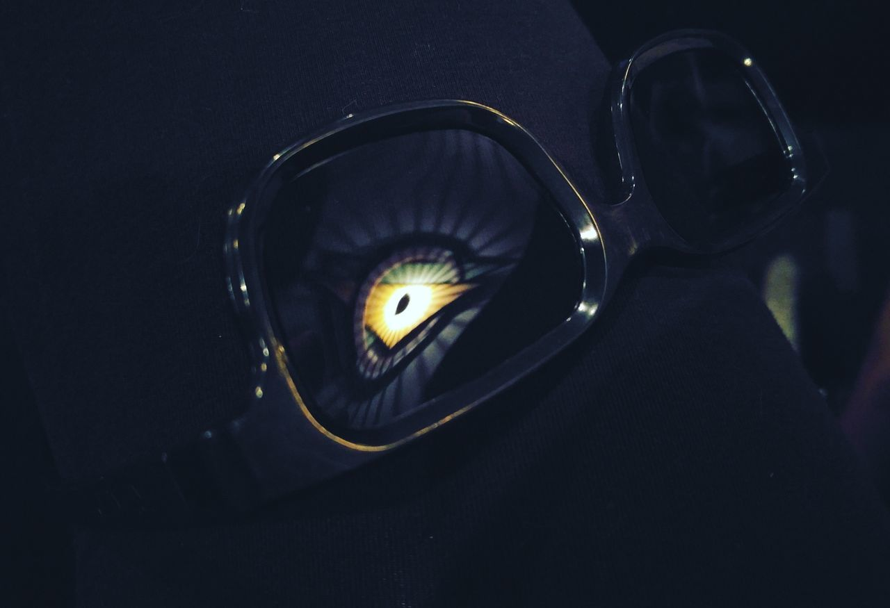Movie time. No People Black Background Close-up Movies Movie Night Movie Theater Glasses Glasses Reflect Glasses Reflections Sunglasses Sunglasses At Night Reflection Indoors