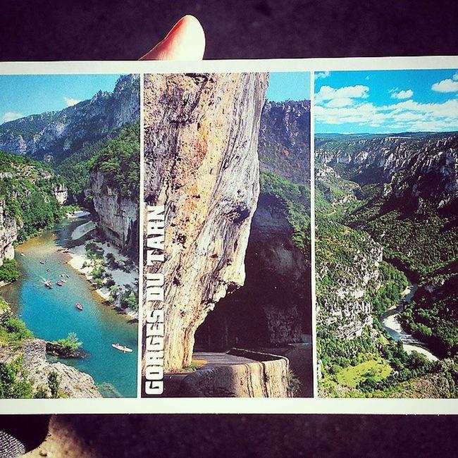 Carte postale des Gorges du Tarn DéfiInstagram MyLittleApp J23 Cartepostale