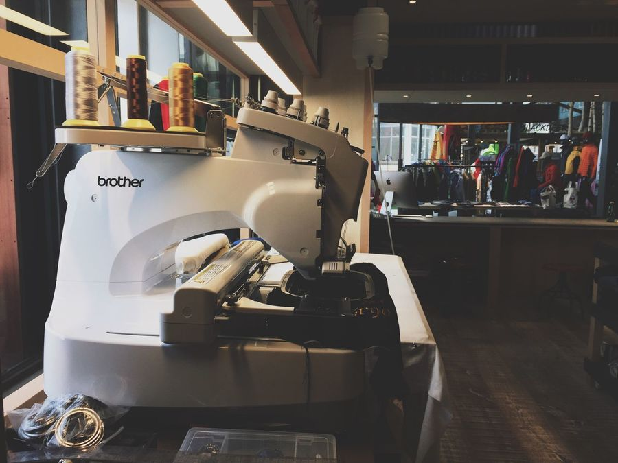 Indoors  Machinery Sewing Machine Working Studio Tailor Shop