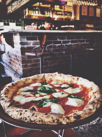 Best Pizza in Sydney - Gigis. Foodporn Food Pizza Dinner Enjoying Life IPhoneography Hanging Out Cheese!