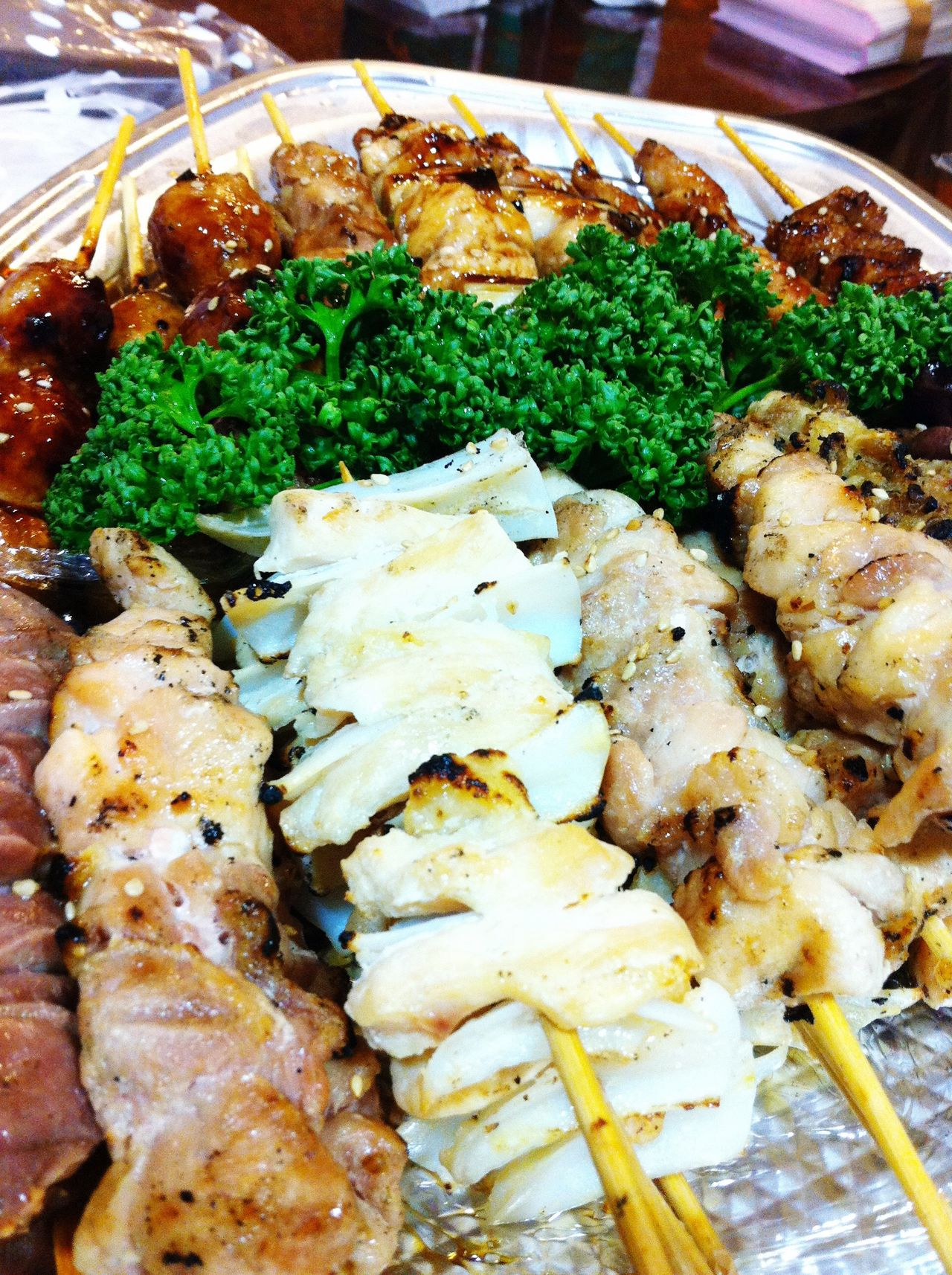 Yakitori are grilled chicken skewers. 焼き鳥 やきとり Takitori Food Japanese Food