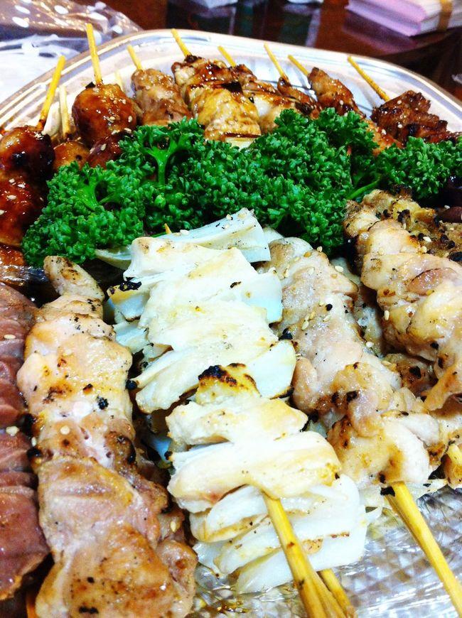 Yakitori are grilled chicken skewers. 焼き鳥 やきとり Takitori Food Japanese Food