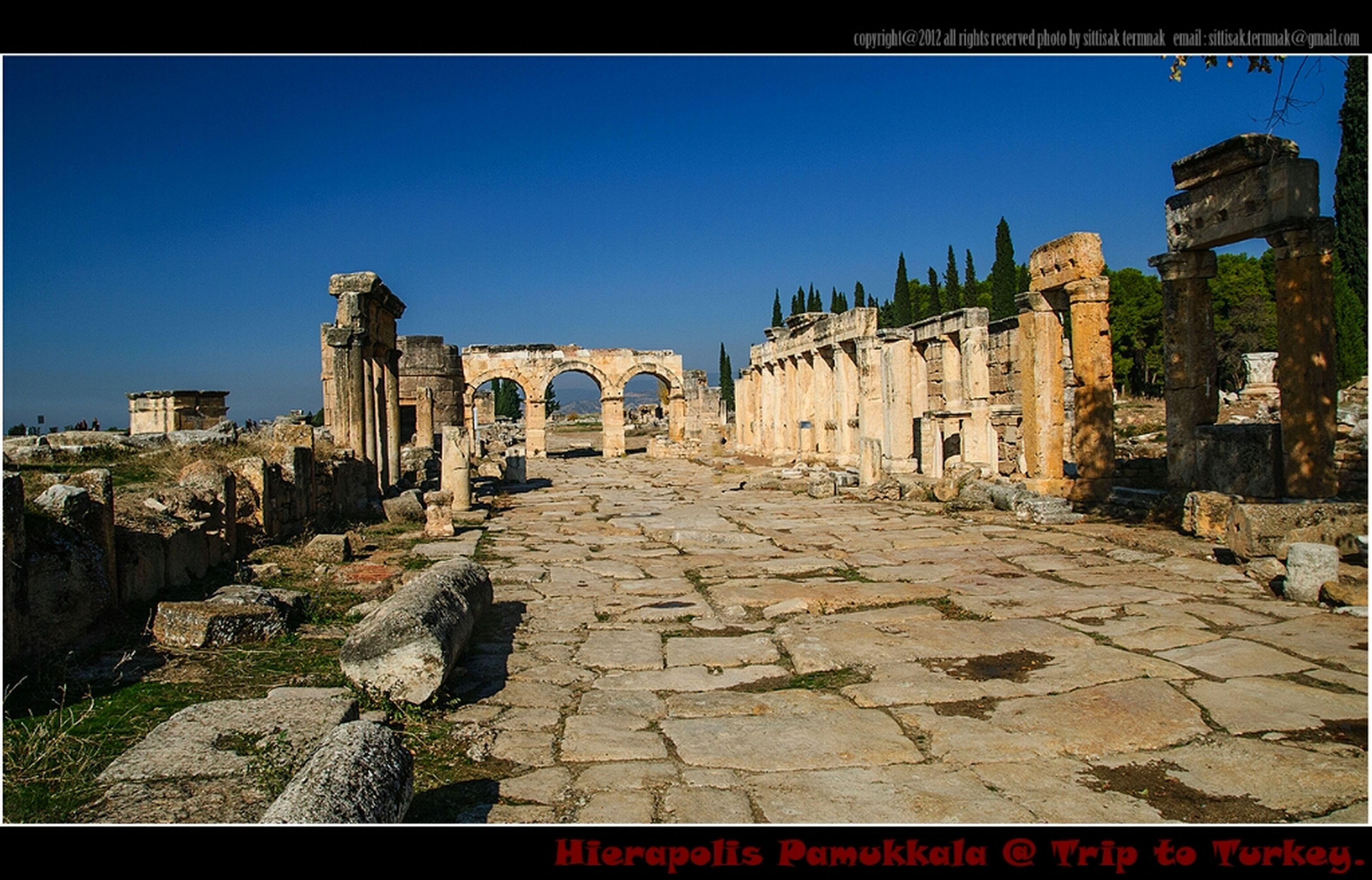 Hierapolis Pamukkale, Turkey. Traveling Landscape Travel Turkey