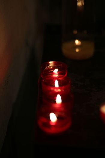 Candles Close-up Heat - Temperature Illuminated Indoors  No People Open Fire Open Flames Red Warming