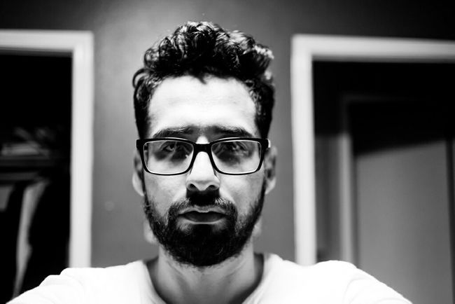 Selfportrait Blackandwhite Hi! That's Me Highcontrast Sleep Deprived Allnighter Working