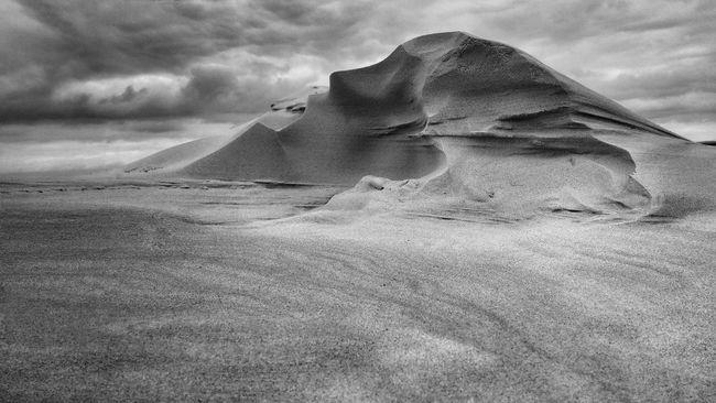 Nature Mountain Desert Cloud - Sky Landscape Danmark Outdoor Traveling Sand Mountains And Sky Travel Black & White Blackandwhite