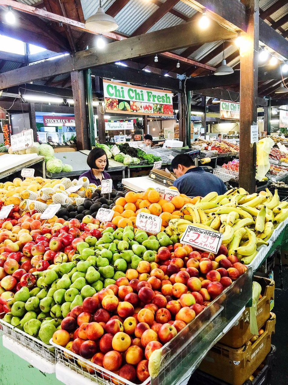 Vibrant Fruit Market Produce Eat More Fruit Fresh Produce Grocery Organic Lifestyle Healthy Healthyliving Healthy Food Delicious Food Market Fruit Fruit Market Market Detail Yummy Food Porn Food Juicy Fruit Stall Eating Green Vegetarian Fremantle Markets Bananas Apples