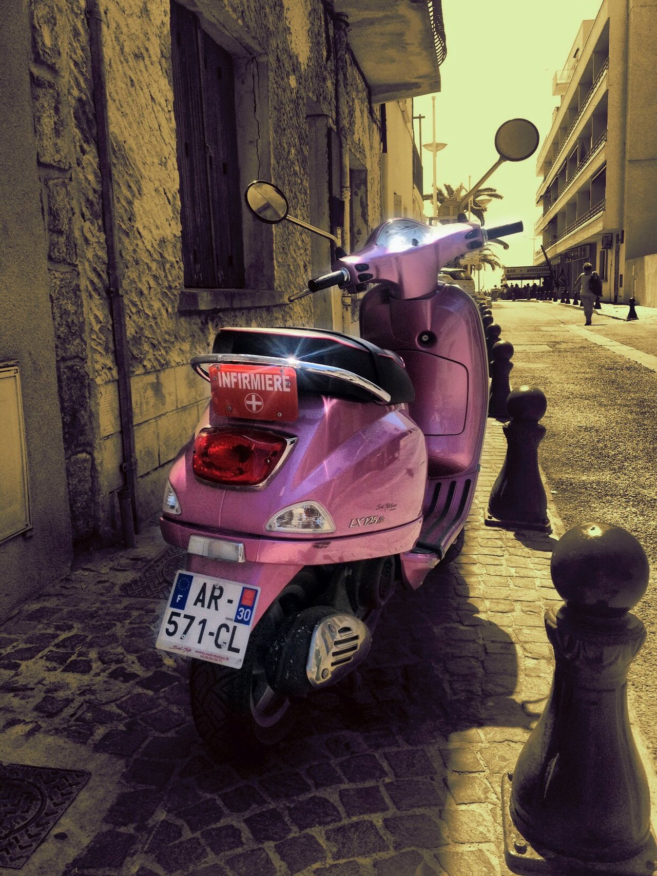Millennial Pink Building Exterior Built Structure Pink Color Architecture City Outdoors No People Day Scooter France