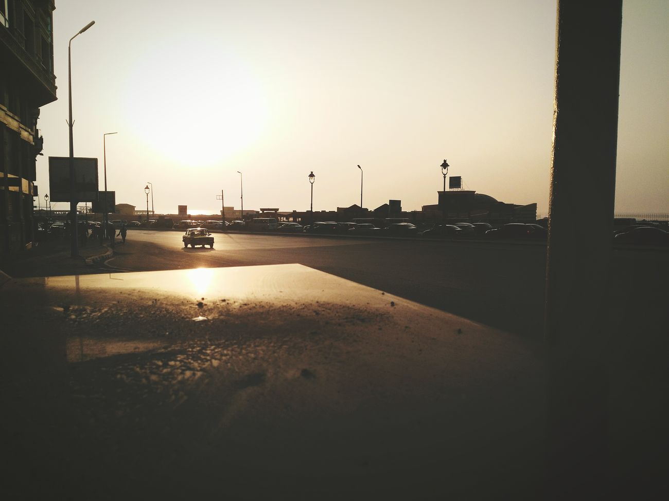 Lonely Car Outdoors Traffic Sunset Sky First Eyeem Photo