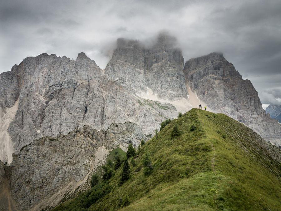 Dolomiti, the Pelmo Muont near Rifugio Fiume Clody Day Dolomiti Bellunesi Dolomiti Italy Dolomitiunesco Montains    Overcast Pelmo Rock Formation Scenic View Scenics The Week On EyeEm Val Zoldana