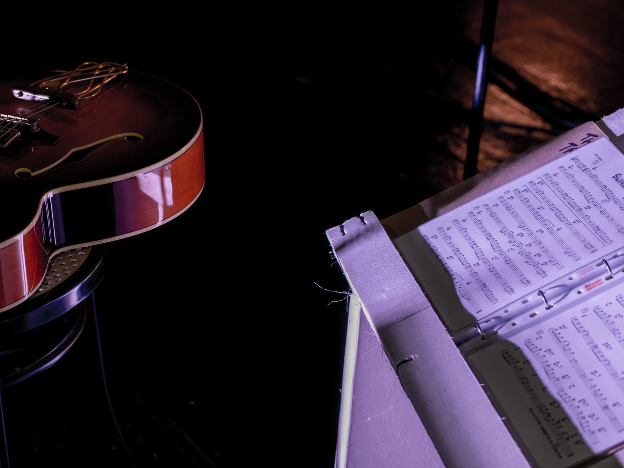 Close-up Concert Gig Guitar Indoors  Jazz Music Musical Night No People Note Partiture
